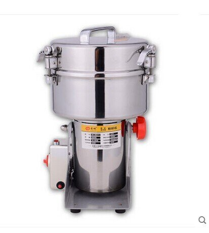 JIAWANSHUN 2000g Electric Grain Mill Cereal Spice Grinder HC-2000 for Herb Pulverizer Superfine Powder Machine 110V