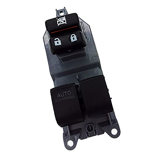 LINMAN 84820-0D100 Power Master Window Levantador de Control del Interruptor del Interruptor, Compatible con Toyota Yaris RAV 4 Corolla 2005-2011 (Color : Black)