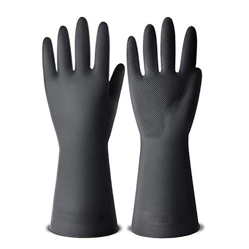 Product Image 1: ThxToms Dishwashing Gloves, 3 Pairs Reusable Latex Cleaning Gloves for Housework, Kitchen, Bathroom, Extra Large