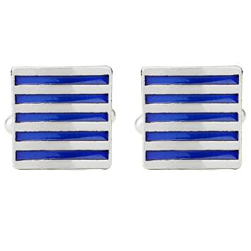 Hosaire Herren Manschettenknöpfe Cufflinks Mode Blaue-weiße Streifen Männer Damen Elegant Hochzeit Manschettenknopf Hemd Manschettenknöpfe