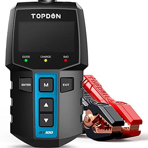 Car Battery Tester 12V Load Tester, TOPDON BT100 100-2000...