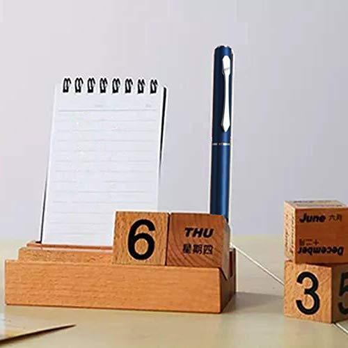 tomation Calendario De Escritorio De Mesa De Año Perpetuo De Madera Decoración De Escritorio De Oficina De Bloque De Madera, Calendario Perpetuo De Madera De Paulownia, Calendario De Escritorio safety