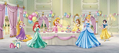 1art1 Disney Prinzessin - Princess Celebrate Vlies Wand-Foto-Poster-Tapete | Moderne Dekoration Wand-Deko Wohnzimmer Schlafzimmer Büro Flur 202 x 90 cm
