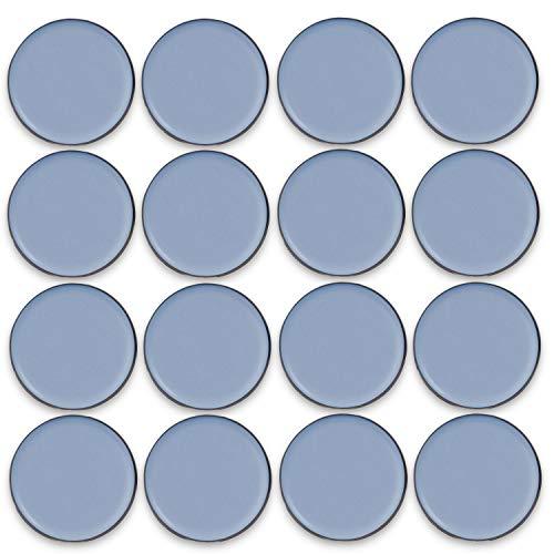Filzada® 16x Teflongleiter Selbstklebend - Ø 25 mm (rund) - Profi Möbelgleiter/Teppichgleiter PTFE (Teflon)