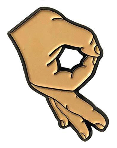 Balanced Co. Circle Game Meme Enamel Pin Meme Pin (Beige Enamel Pin)