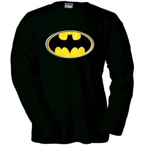 Mx Games Camiseta Logo Batman Manga Larga (Reliev) (Talla: Talla S Unisex...