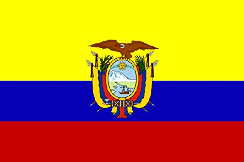Sonia Originelli Fahne Flagge 90 x 150cm Fussball EM Party WM Handball Farbe Ecuador