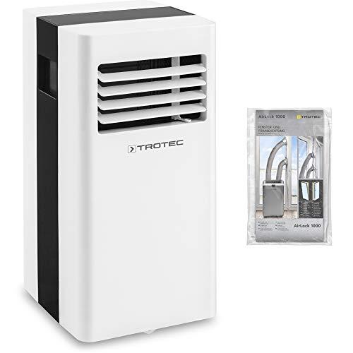 TROTEC Acondicionador de Aire Local PAC 2600 X 3-en-1 del acondicionador de aire: refrigeración, ventilación, deshumidificación, sistema de reciclaje inteligente incluido AirLock 1000