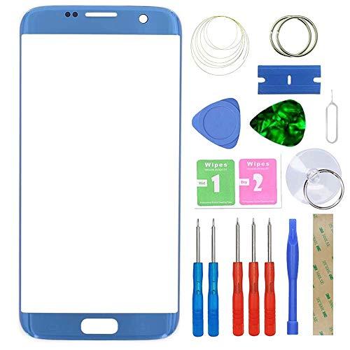 """MovTEK Ecran Tactile Vitre Avant Kit de Remplacement pour Samsung Galaxy S7 Edge SM-G935F G935FD 5.5"""" avec Trousse à Outils - Bleu"""