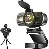 Full HD Webcam 1080P Videokamera mit Abdeckung Autofokus USB Webcam mit Mikrofon Plug and Play Webkamera für Desktop Mac Kamera für Skype Zoom Konferenzen Streaming Übertragungen Videoanruf