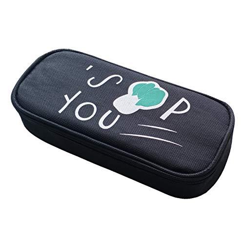 QLZXXY 筆箱 おしゃれ 高校生 小学生 中学生 女子 韓国 ペンケース かわいい 多機能 筆箱 大容量 シンプル 子供 筆箱 可愛い 社会人 オシャレ ペンポーチ 筆入れ 文具ケース(scbd-bc)