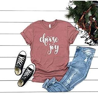 Choose Joy T shirt - Womens Unisex T shirt - Choose Joy Inspirational T shirt - Mauve Colored T-shirt - Soft Tee