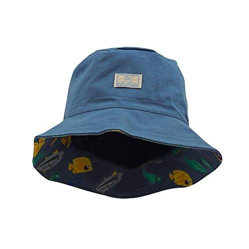 PICKAPOOH Wende-Fischerhut mit UV-Schutz Baumwolle, Jeans/Fische Gr. 54