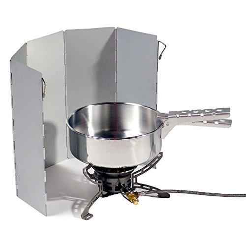 Relags Baisc Nature Alu Windschutz 5 Lamellen für Kocher - Faltbar