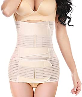 3 in 1 Postpartum Belly Wrap, lifecolor Postpartum Belly Girdle Support Recovery Waist Pelvis Belt, Body Shaper Postnatal Shapewear