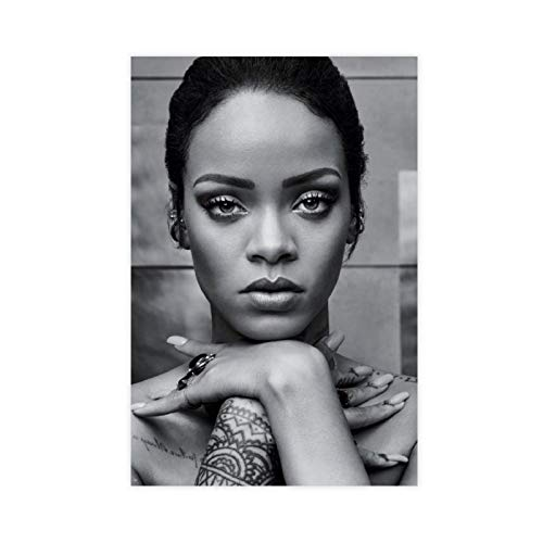 ASDEF Singer Actor Model Rihanna 17 Poster Decorative Painting Canvas Wall Art Living Room Posters Bedroom Painting 12×18inch(30×45cm)Unframe-style1