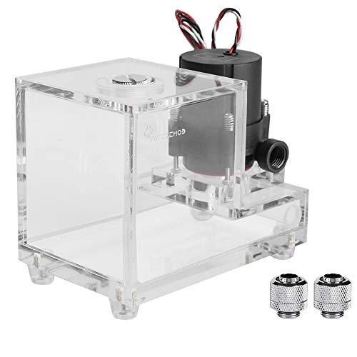 600L/H 10W 12V waterpomptank, volledig transparant Geïntegreerde 600ML pc gekoelde waterpomp Waterkoelingstank met schokkussen, eenvoudige installatie en onderhoud