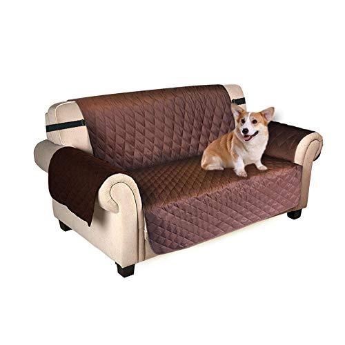B/H Todas Las Estaciones Funda de sofá,Cojín Impermeable para sofá para Mascotas,Funda para sofá Transpirable y Suave-深 咖啡_L,Protector para Sofás Reversible