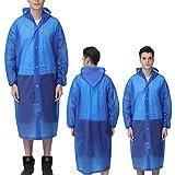Moent Unisex Outdoor Travel Fashion impermeable para adulto transparente Evc Raincoat Outdoor Travel Adulto Impermeable grueso transparente