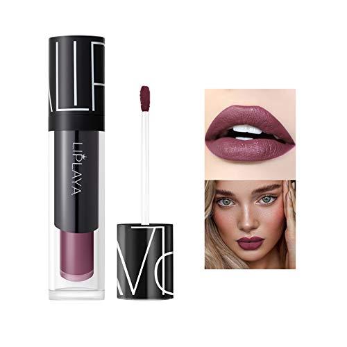 Mimore Moist Lipstick Trucco professionale Rossetto liquido per labbra, Tazza antiaderente impermeabile Colori sexy Rossetto Idratante Levigante, Lunga durata 24h Idratante Impermeabile (107)