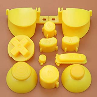 Full Sets A B X Y Z Buttons Direction Key D-pad Mod Button for Gamecube NGC Controller (Yellow)