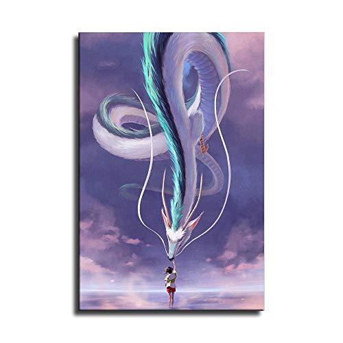 Póster de anime japonés Hayao Miyazaki de Spirited...