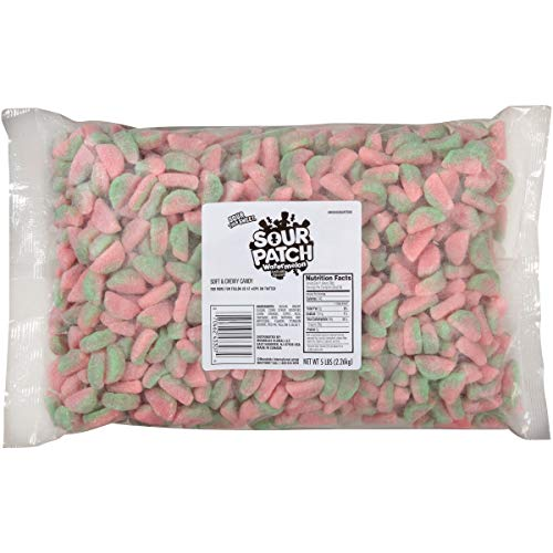 Sour Patch Kids Soft & Chewy Candy, 5 lb Bag, Red 5 Pound, Watermelon, 80 Oz