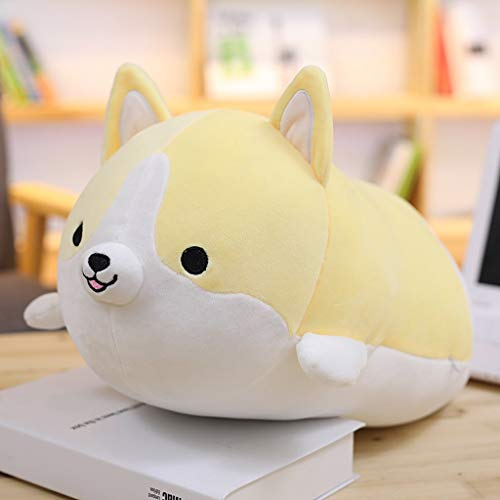 Throw Pillow The Sofa Backrest Padding the Super Soft Cute Pillow is Used to Decorate the Home Office Car Plush Game Toy Throw Pillow (corgi Dog) Colorful Cushion (Color : Beige, Size : M size)