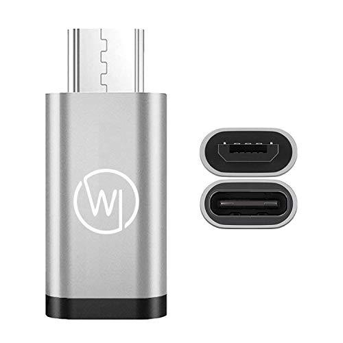 Wicked Chili Micro-USB a USB-C Adattatore OTG (On-The-Go) Adatto per Huawei EnVizion 360 e Fotocamere Plug-in USB-C per Smartphone, Tablet, Notebook Adattatore Tipo-C per dispositivi Micro USB
