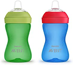 Philips Avent My Grippy Spout Cup, 10 Ounce, 2 Pack, Blue/Green, SCF801/21