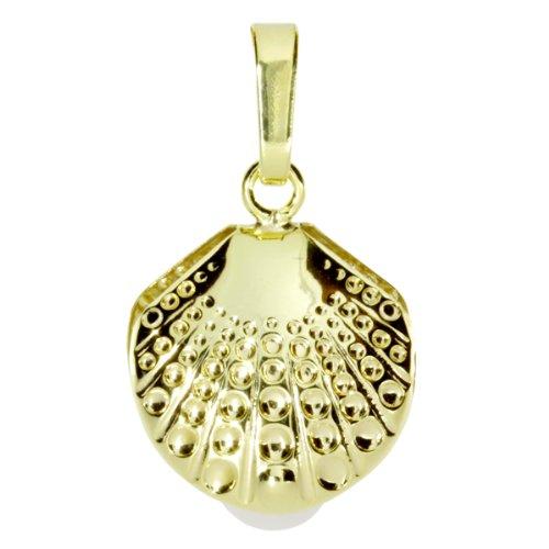InCollections Damen-Anhänger 333/000 Gold mit Süßwasserzuchtperle, Muschel 0010100029401