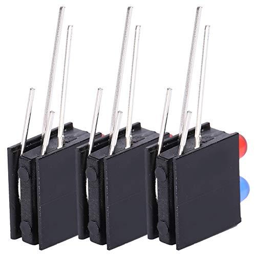 Shanbor Accesorios para Indicadores de Botones, Soporte de LED para Montaje en Bisel, Soporte para LED de 100 Piezas, Base Curva de 90...