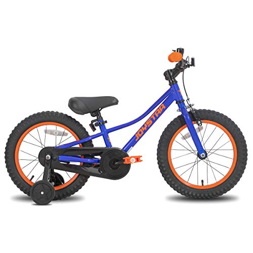 """JOYSTAR 18 Inch Kids Bike with Training Wheels for 5 6 7 8 9 Years Old Boys 18"""" Youth Bikes Cycle for Early Rider MTB Pedal Bike Blue"""