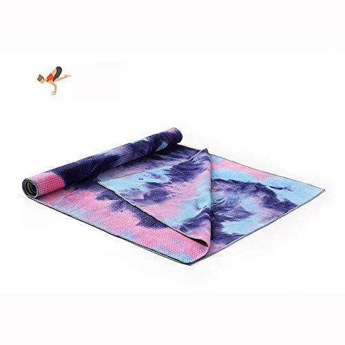 IAMZHL Funda de Yoga Antideslizante Toalla Manta de Yoga Antideslizante Microfibra + Pilates Deporte de Interior Ejercicio físico-Wisteria