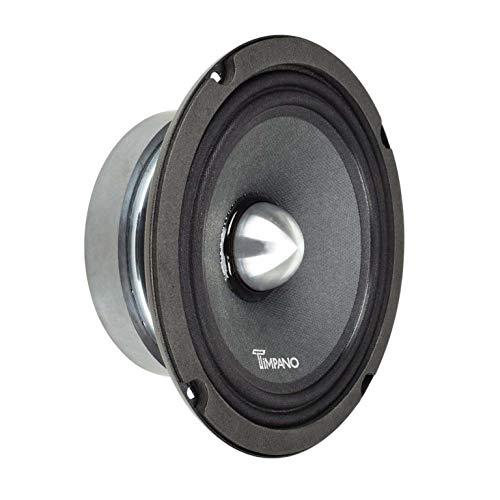 TIMPANO TPT-MR6-4 Bullet 6.5″ Midrange Speaker Pro Audio - 6.5 inch Mid Range Loudspeaker for Car Audio - 4 Ohms, 125 Watts RMS Power, 250 Watts Continuous Power Mid-Range Speakers (Single)