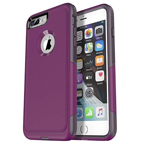 Krichit Pioneer Series Compatible with iPhone 8 Plus case/iPhone 7 Plus case Dual Layer Design,Military Grade Drop Protection Protection Case, Pioneer Series Phone Case (Night Purple)