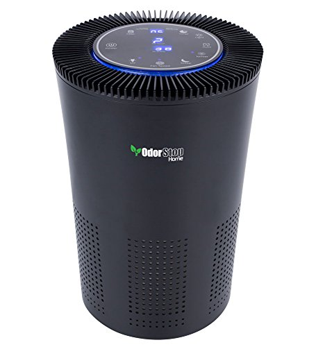OdorStop HEPA Air Purifier with H13 HEPA Filter, UV Light, Active Carbon, Multi-Speed, Sleep Mode and Timer (OSAP5, Black)