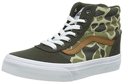 Vans Unisex Ward HI Canvas Hohe Sneaker, Mehrfarbig ((Frog Camo) Forest Night/White WLZ), 38 EU