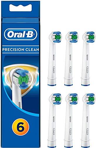 Oral-B Precision Clean Aufsteckbürsten mit Bakterienschutz, Verhindert bakterielles Wachstum auf den Borsten, 6 Stück