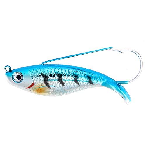 Hao-zhuokun Señuelo de Pesca Artificial de Goma 8.5 cm 21 g Bass Lubina Señuelo para Pesca Spinning para la Pesca de Peces Depredadores para la Pesca de Peces Depredadores