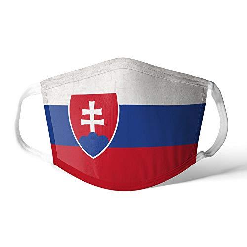 M&schutz Maske Stoffmaske Klein Notleidende Flagge Slowakei/Slowakei Wiederverwendbar Waschbar Weiches Baumwollgefühl Polyester Fabrik
