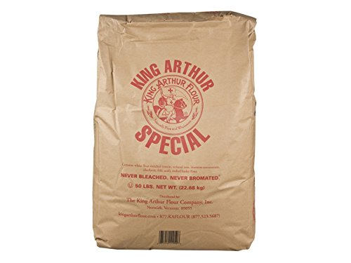 King Arthur Unbleached Bread White Flour, 50 Pound