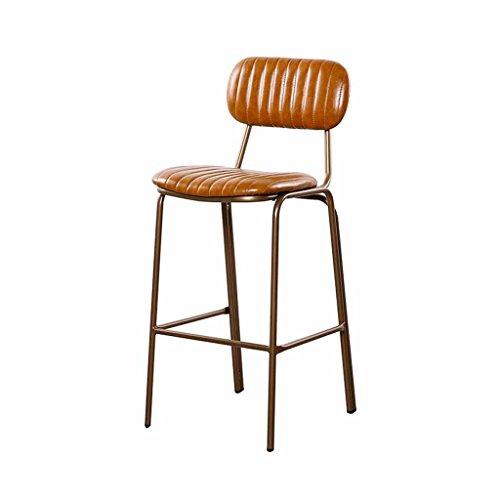 BETTY tableau Tabouret haut moderne, métal simple avec dossier Chaise de salle à manger | cuisine | famille | restaurant | salon | chaise de comptoir (Size : 75cm)