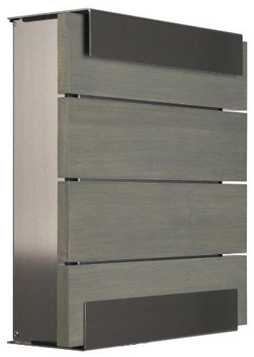 KEILBACH Briefkasten GLASNOST.Wood.Grey grau Wandbriefkasten