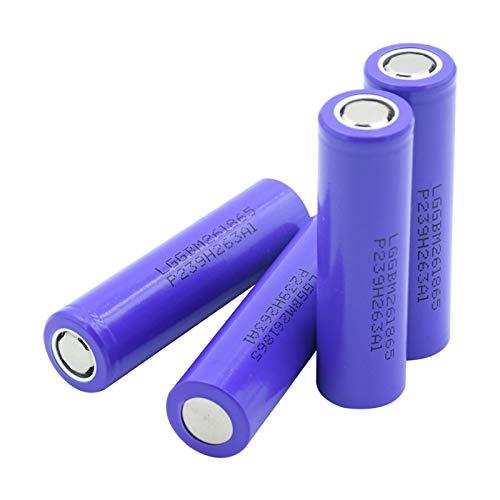 MeGgyc 18650 baterías de Litio de Superficie Plana batería de 3,7 voltios 2600 mAh 10A para RC Toy Power Bank 4pieces