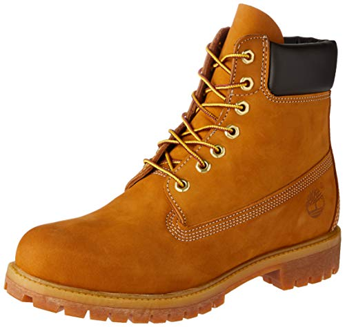 Timberland Men's 6 inch Premium Waterproof Boot,Wheat Nubuck,10 M US