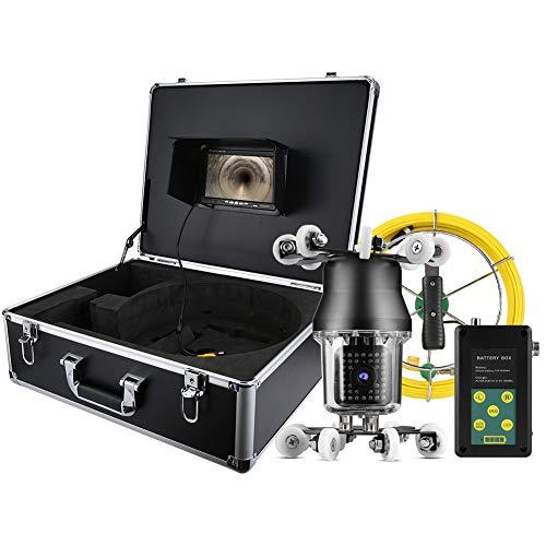 Endoscopio Industrial, Cámara de Inspección de Tuberías - 7in 360 ° Alcantarillado...