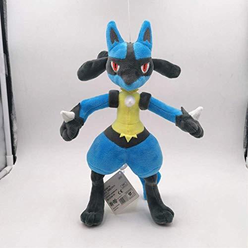 Youhj Pokemon Waveguide Hero Lucario Peluches 30Cm, Muñeca Suave Nuevo Mago Heterocromático Lucario Juguete Regalo De Cumpleaños para Niños
