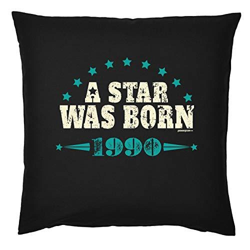Mega-shirt kussen voor 29e verjaardag 29e verjaardag cadeau-idee kussen met vulling A Star was Born 1990 voor 29-jäirge sierkussen bekleding