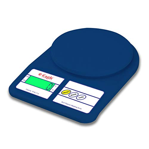 EAGLE Multipurpose Digital Kitchen Scale with Backlight (10 kg, Deep Blue)